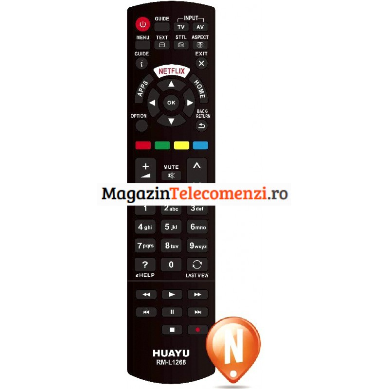 Telecomanda Panasonic RM-L1268 cu netflix
