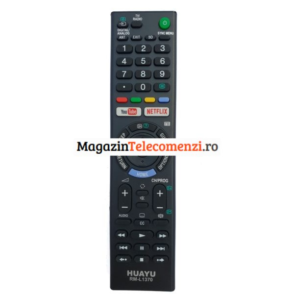 Telecomanda Sony cu Netflix si Youtube RM-L1370